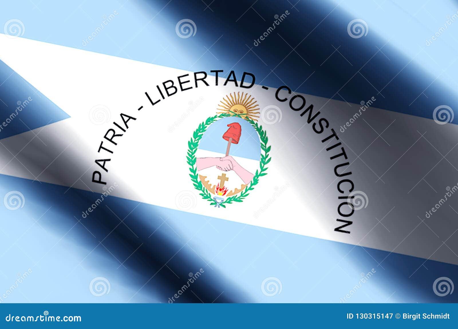 Ondulation de Corrientes et illustration colorées de drapeau de plan rapproché