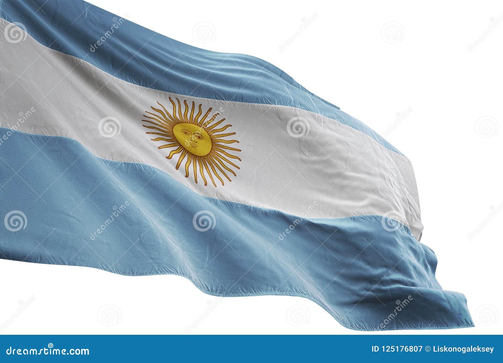 Ondulation de drapeau national de l Argentine d isolement sur l illustration blanche du fond 3d