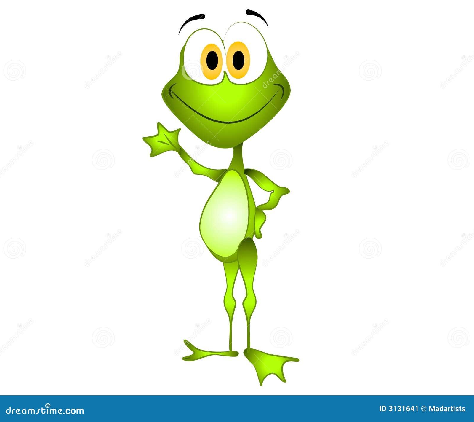Ondulation verte de grenouille de dessin anim image stock image 3131641 - Dessin de grenouille verte ...