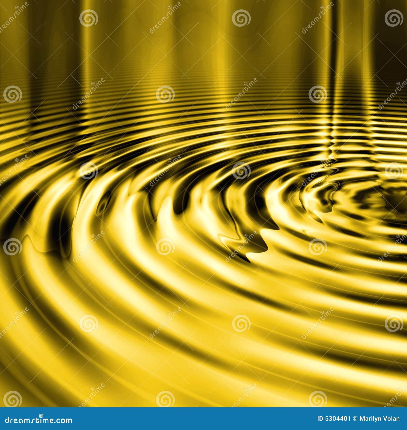 Download Ondulazioni Liquide Dell'oro Illustrazione di Stock - Illustrazione di bronzo, contesto: 5304401
