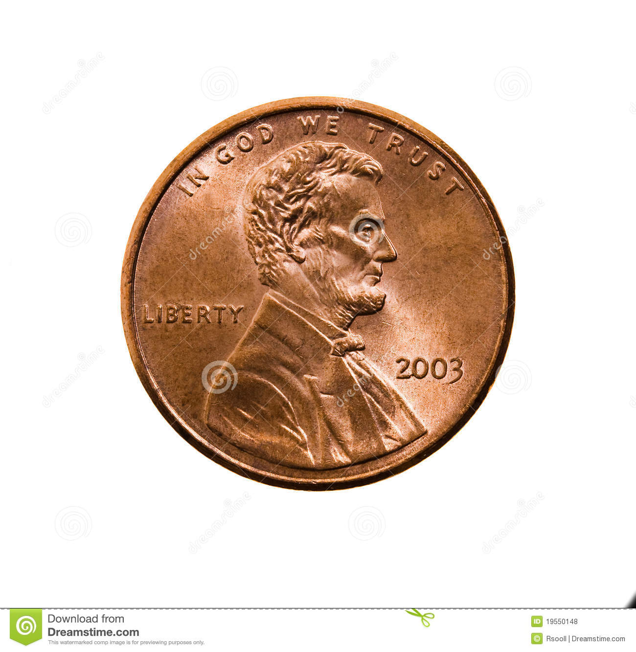 One American Cent Royalty Free Stock Photos Image 19550148