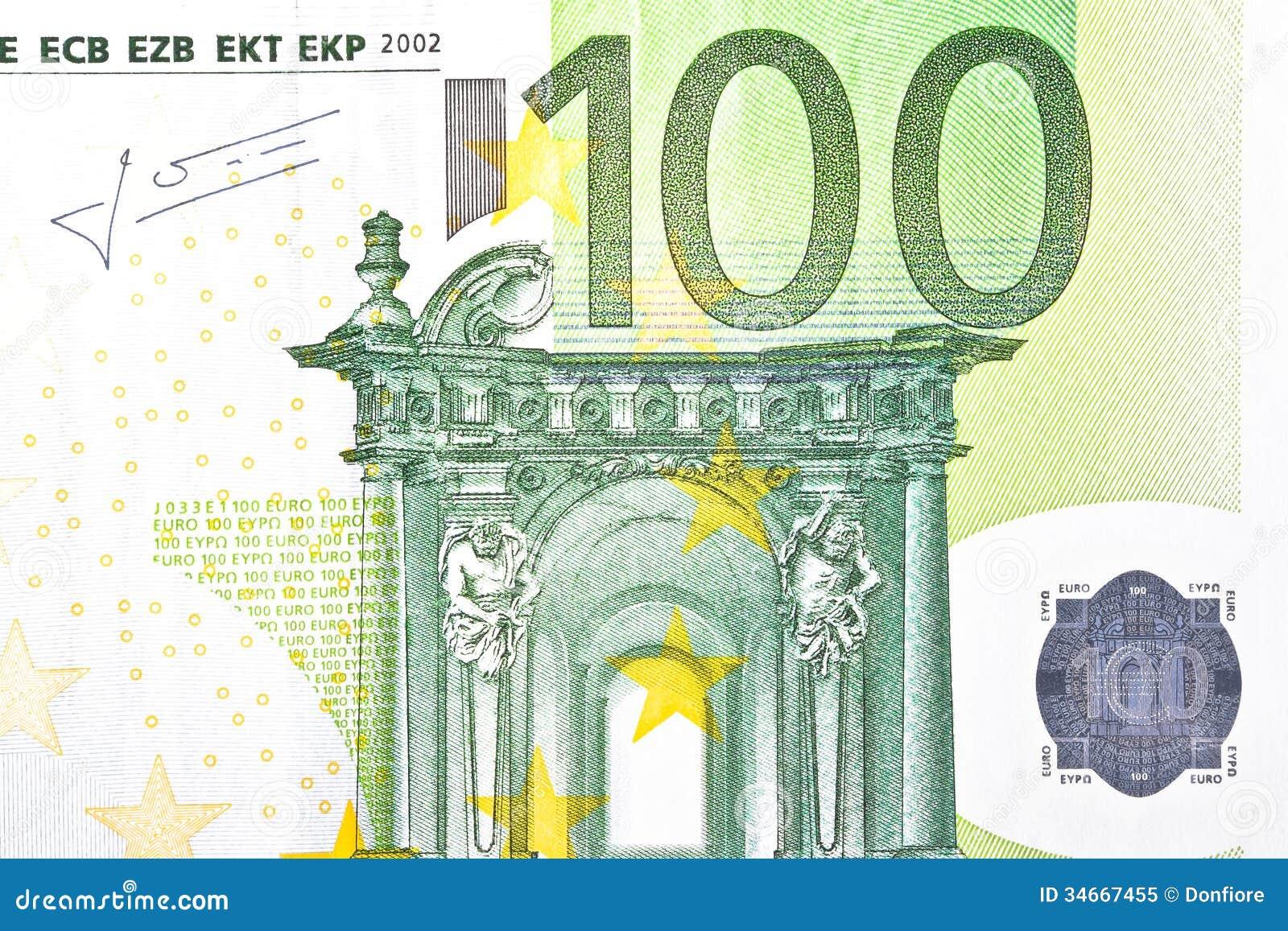 подпись на 100 евро дом
