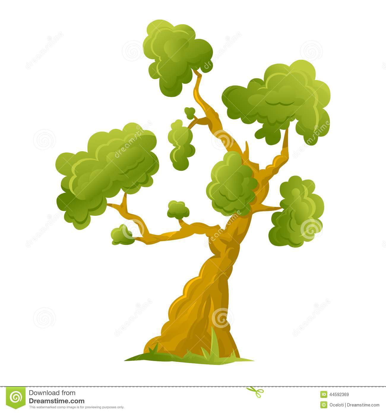 One Big Cartoon Tree Stock Vector Illustration Of Tree 44592369 Check our collection of cartoon tree with branches, search and use these free images for powerpoint presentation, reports, websites, pdf, graphic design or any other project you are working on now. dreamstime com