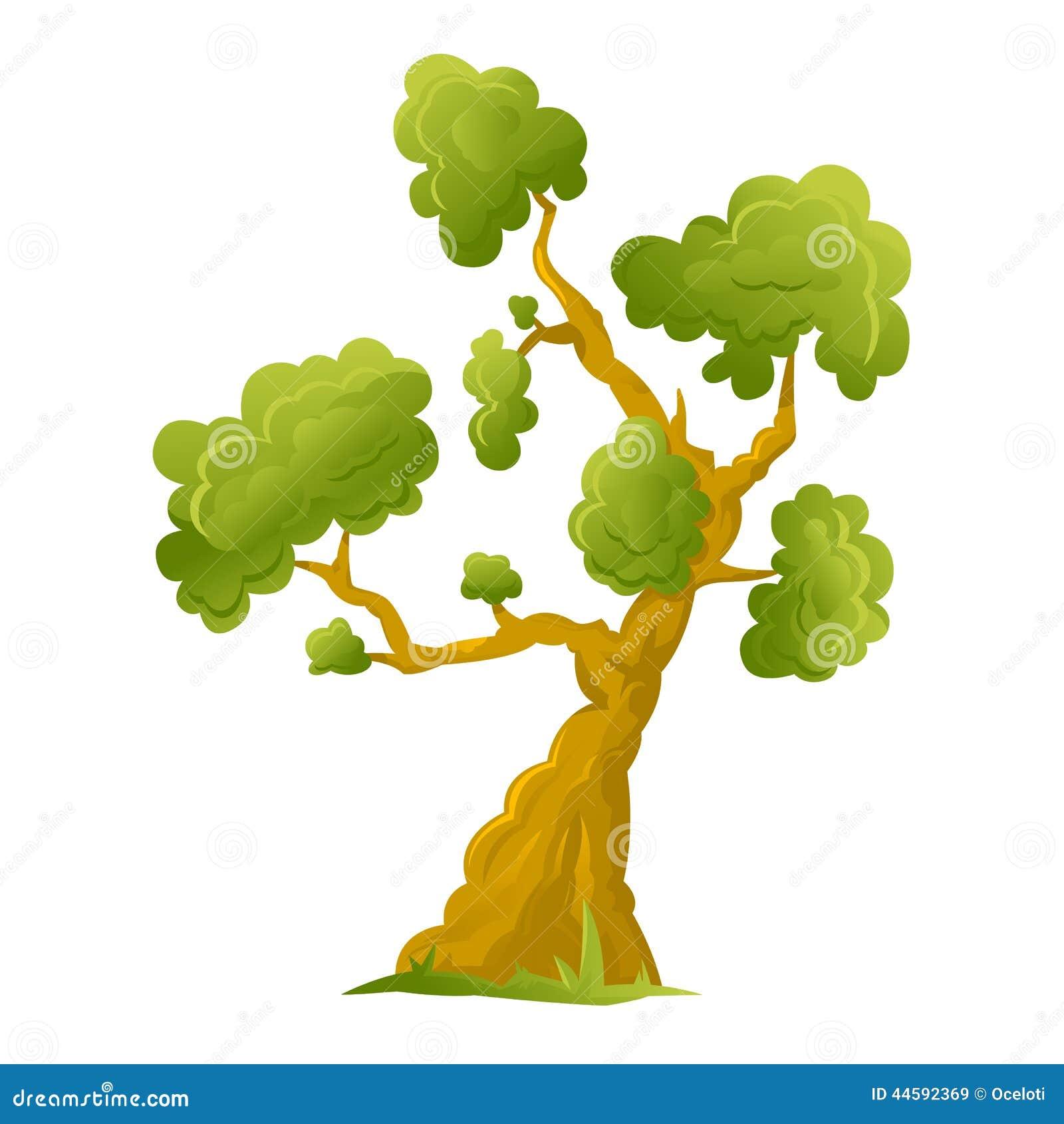 cartoon big tree stock vector image 75316382