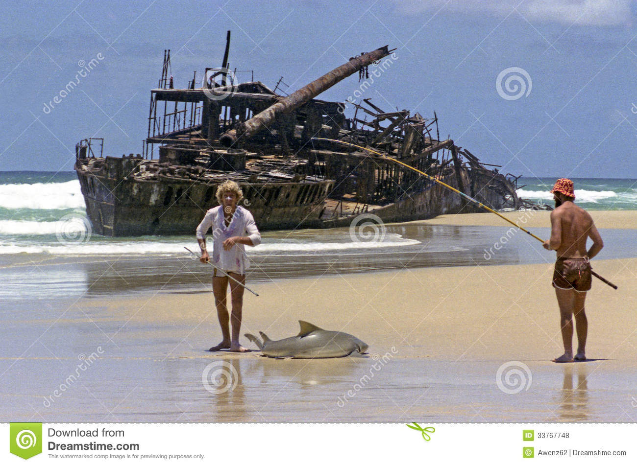 One big fish editorial stock photo image of australian for Shark rigs for surf fishing