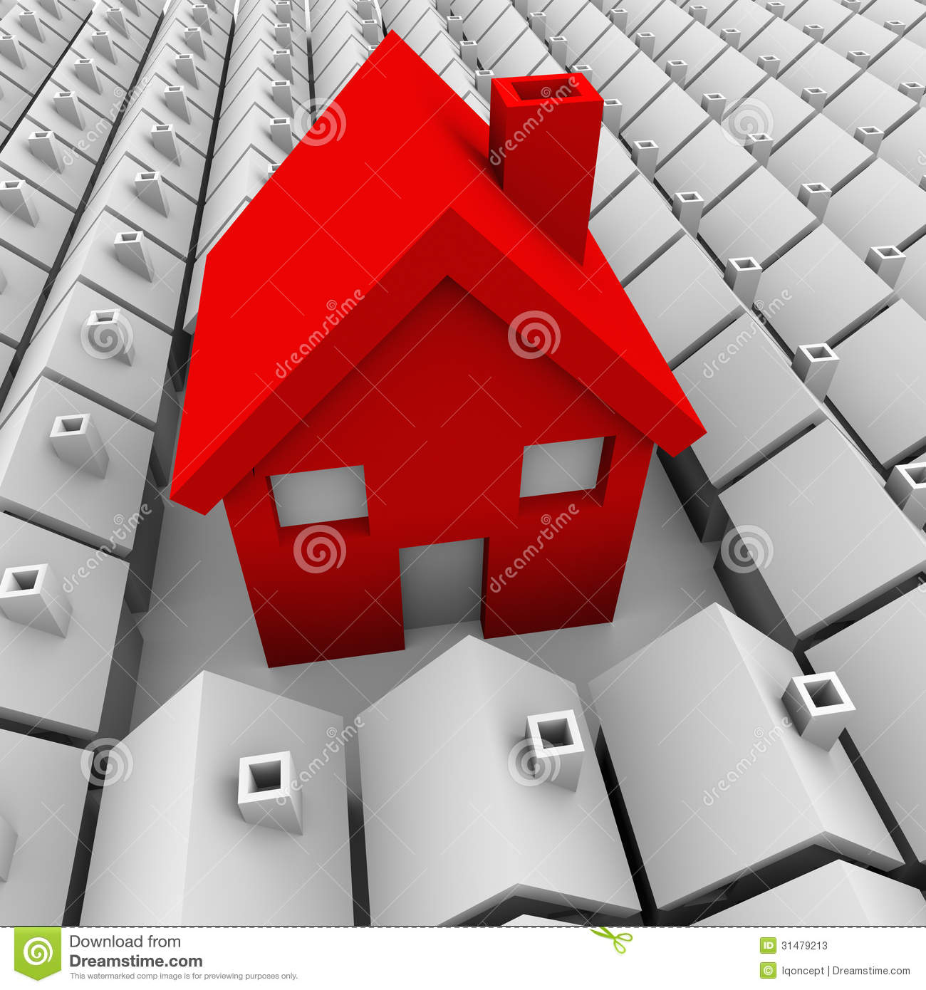 One Big House Many Small Houses Biggest Choice Stock