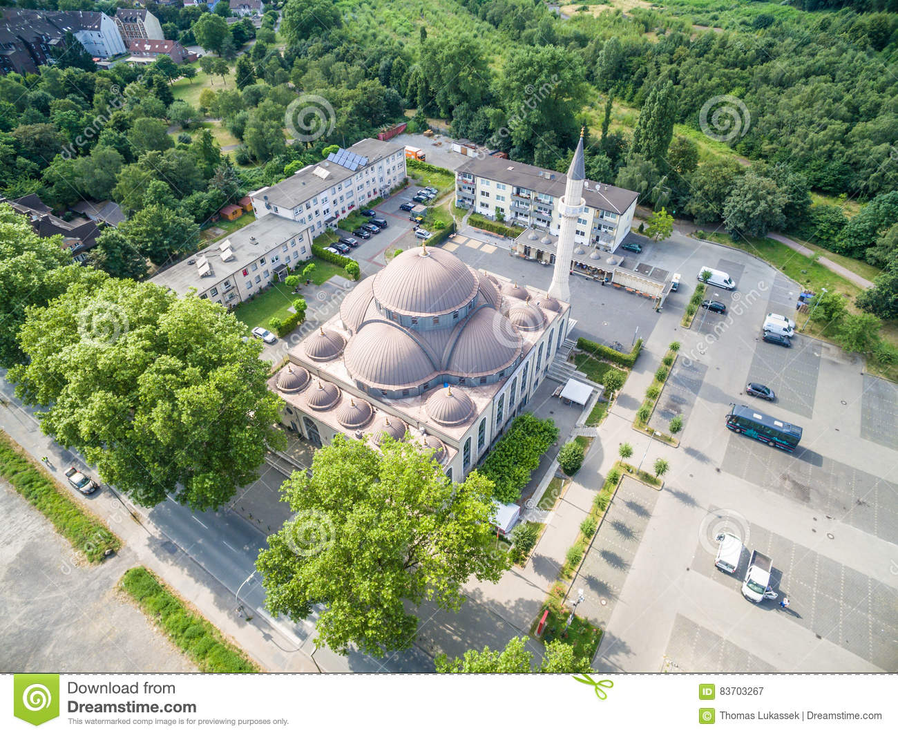 One Of The Biggest Mosques In Germany Under The Sun Editorial Photography