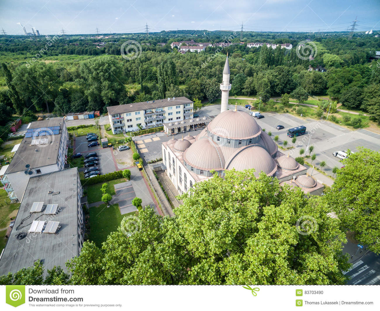 One Of The Biggest Mosques In Germany Under The Sun Editorial Image