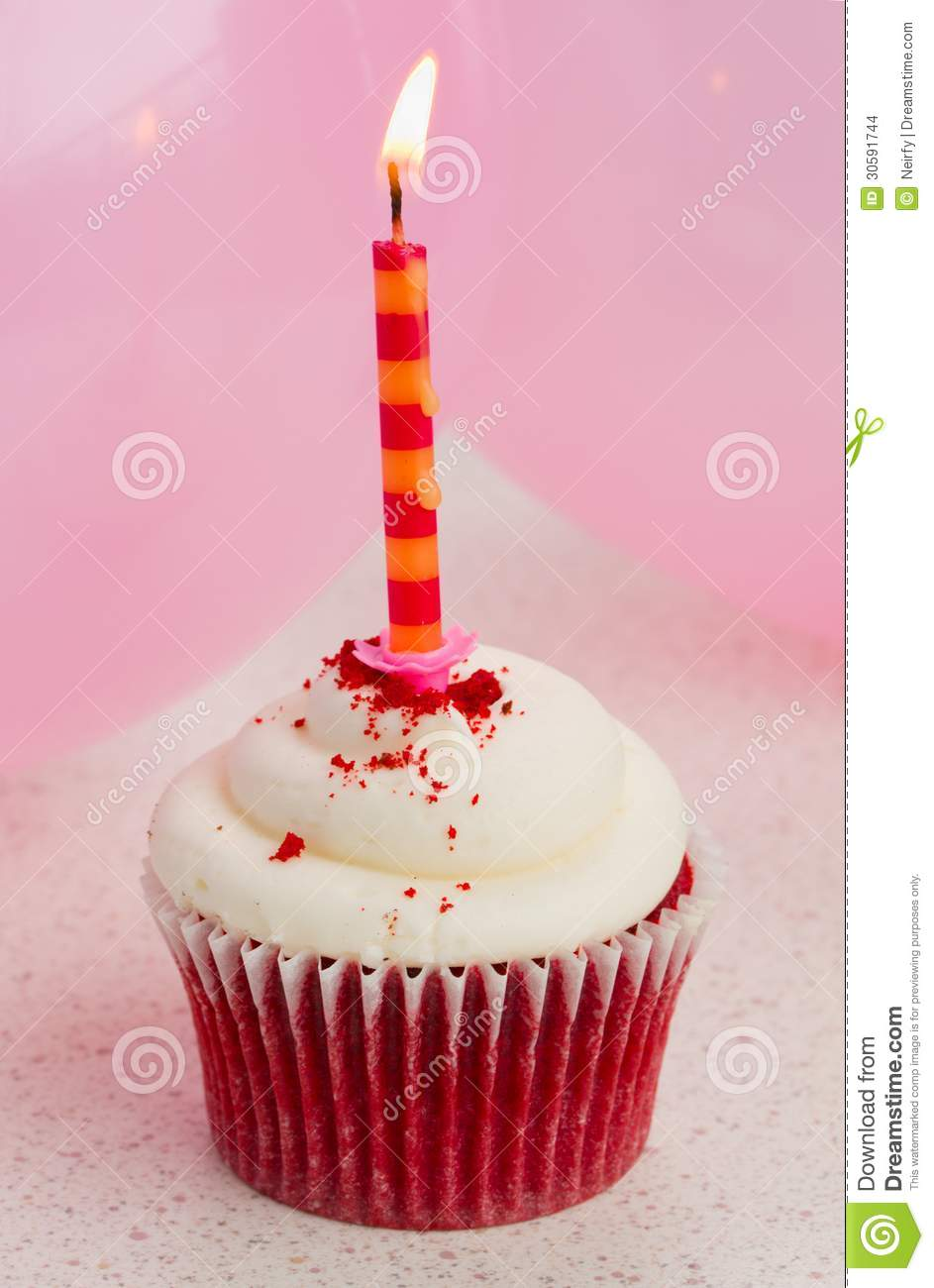 Image Of Birthday Cake With One Candle : One Birthday Cake Stock Images - Image: 30591744