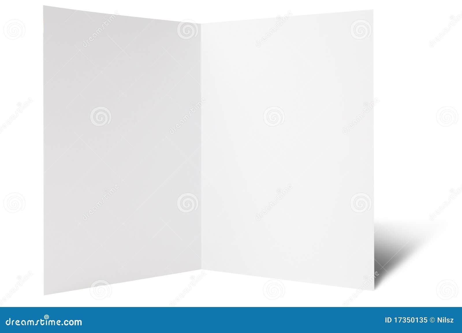 One break fold flyer