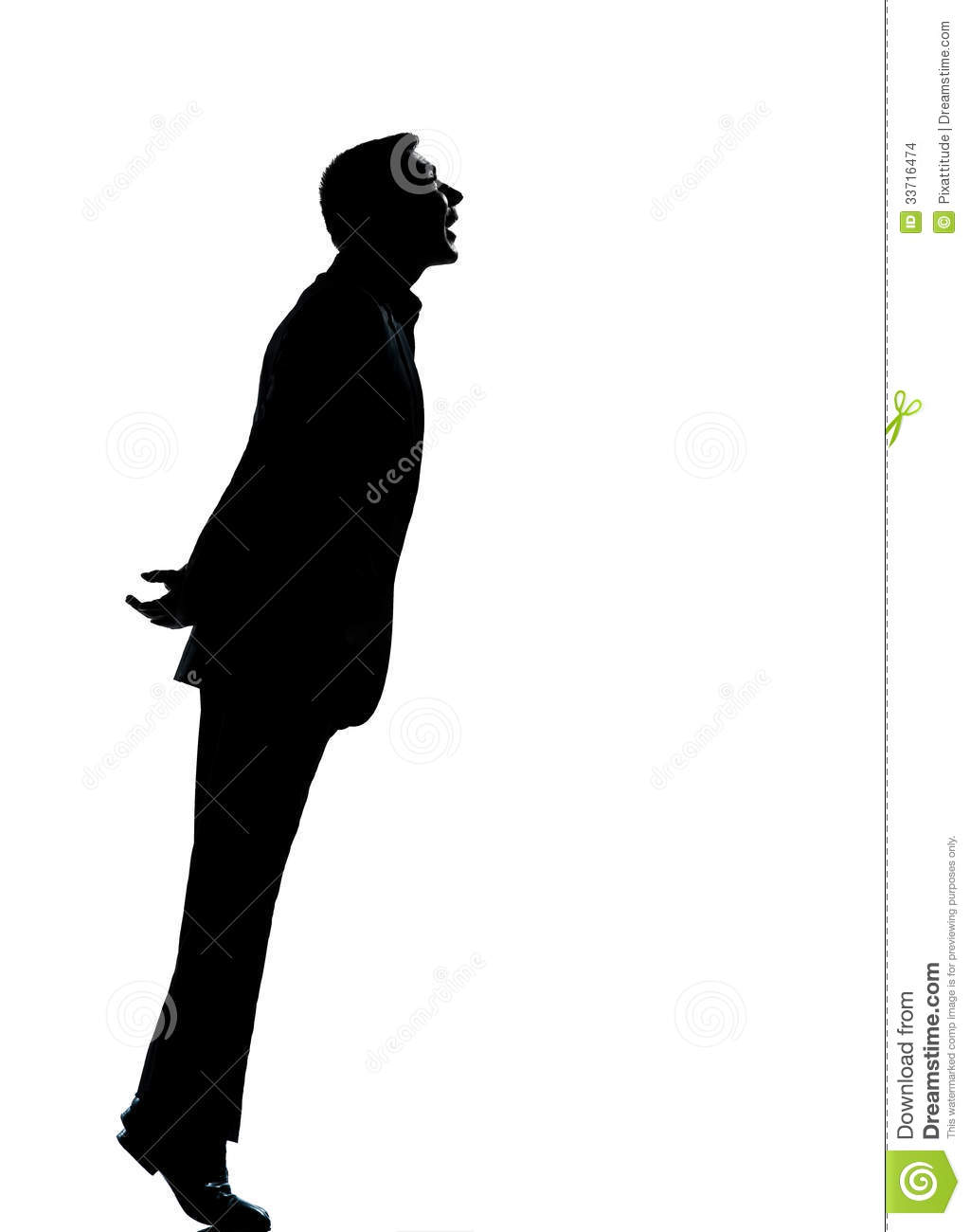 One Business Man Silhouette Looking Up Stock Image ...