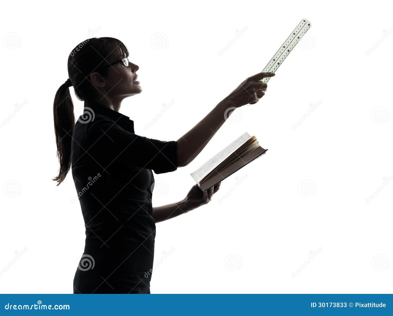 Business Woman Teacher Presentation Silhouette Stock Image