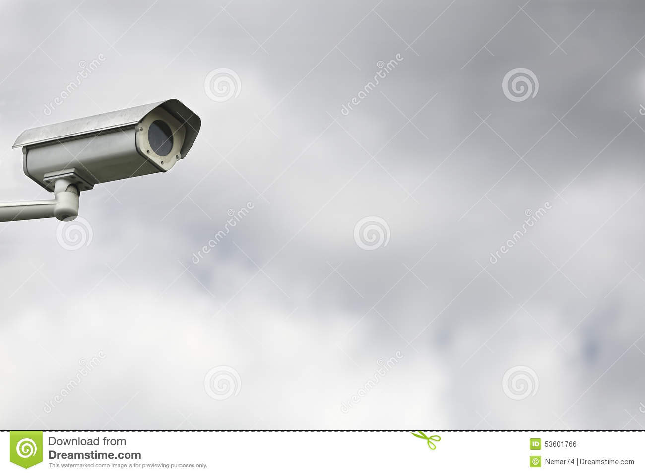 One Cctv Camera For Video Surveillance And Monitoring And