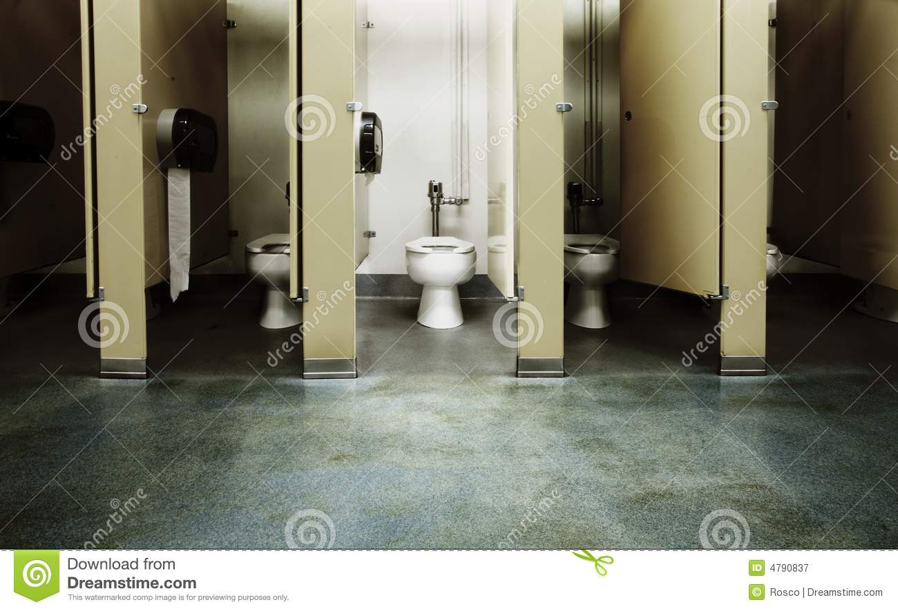 One clean bathroom stall. One Clean Bathroom Stall Royalty Free Stock Photography   Image