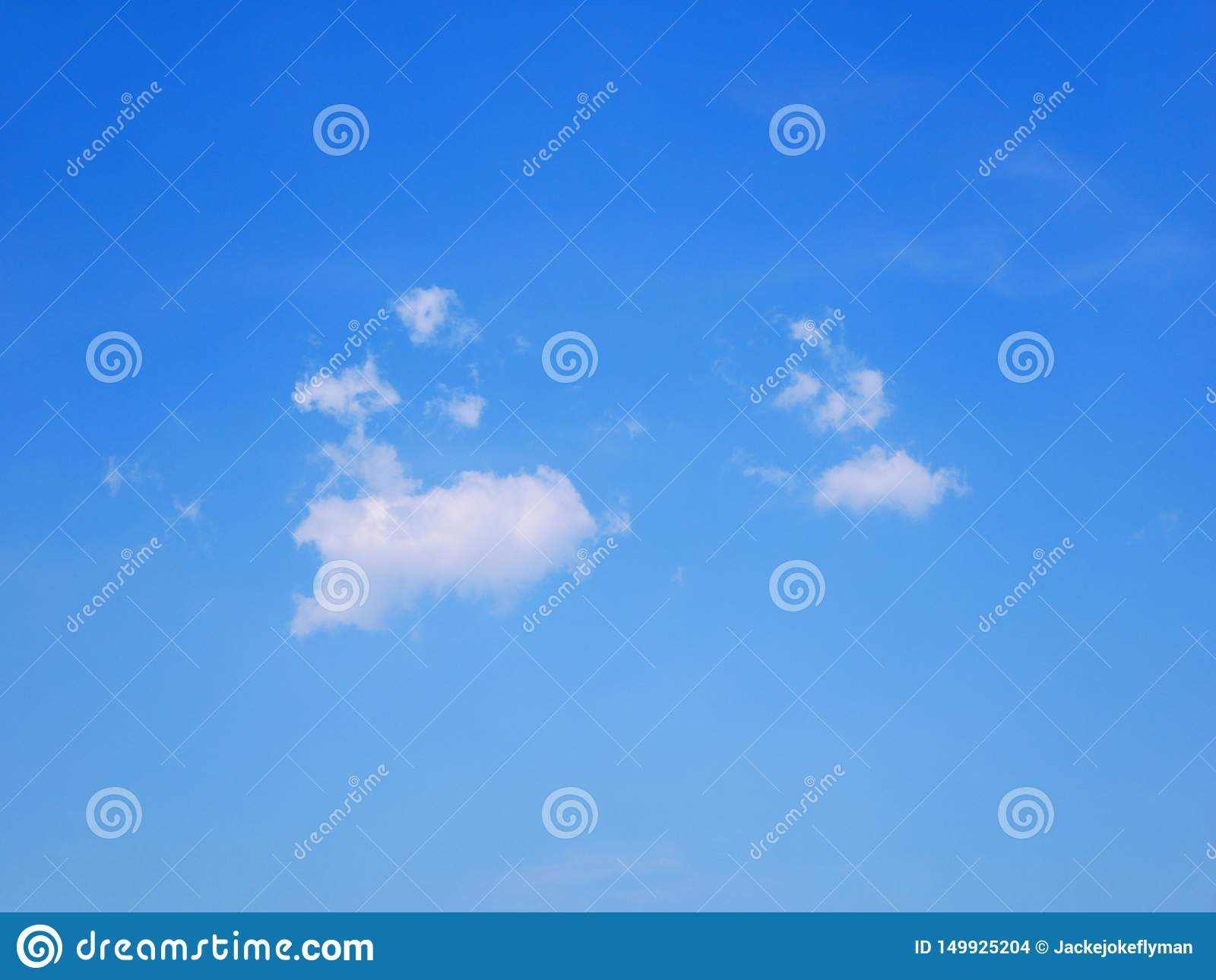 Only one cloud among the blue sky