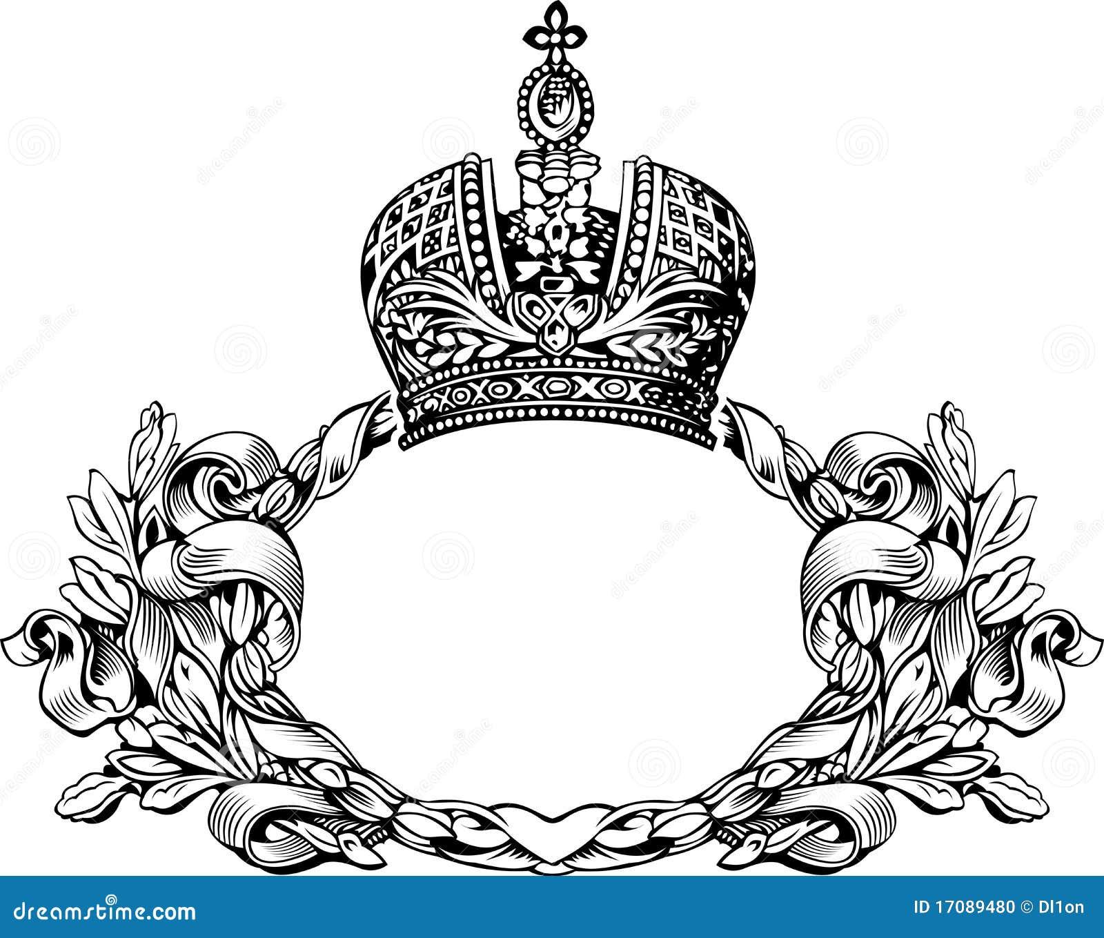 one color royal crown vintage banner stock image image 23376821
