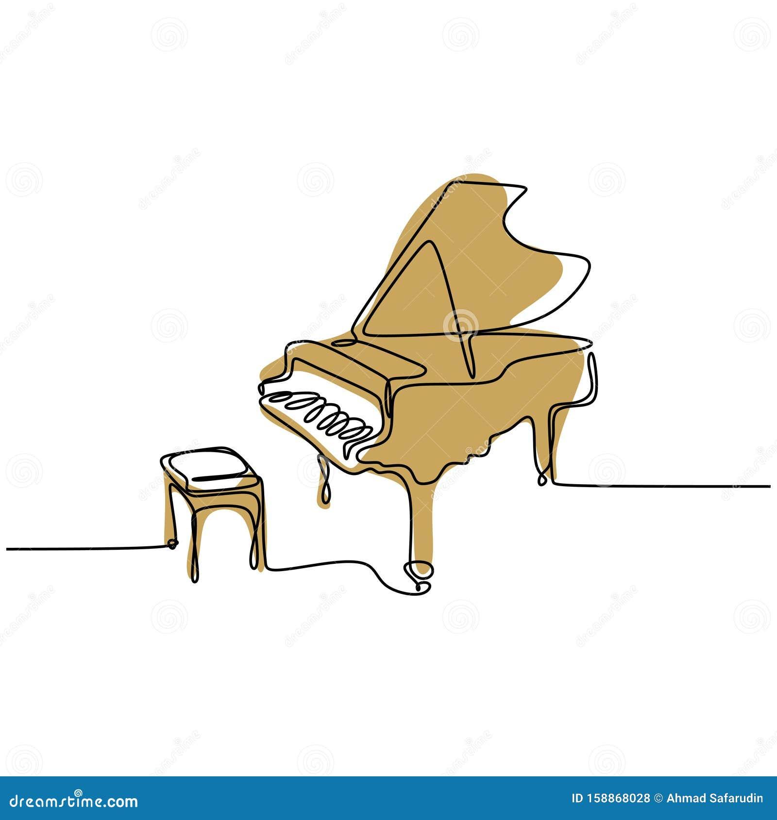Vintage Piano Keyboard Music Clipart  Border Lineart Illustration Instant Download PNG JPG Digi Line Art Image Drawing L457