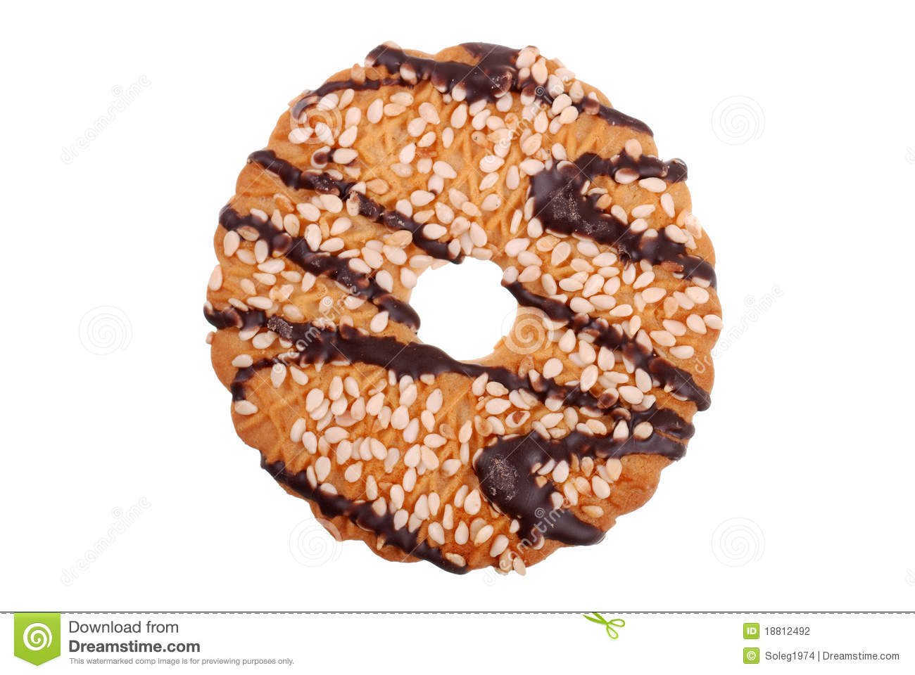 One Cookies In Chocolate Glaze Stock Photography - Image: 18812492