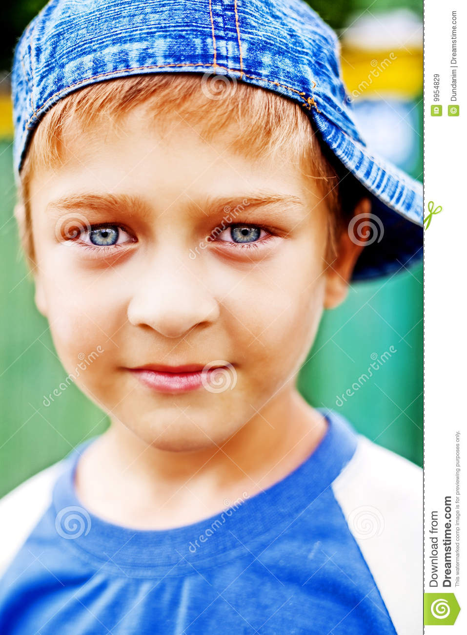 one cute kid with beautiful blue eyes stock image - image of eyes