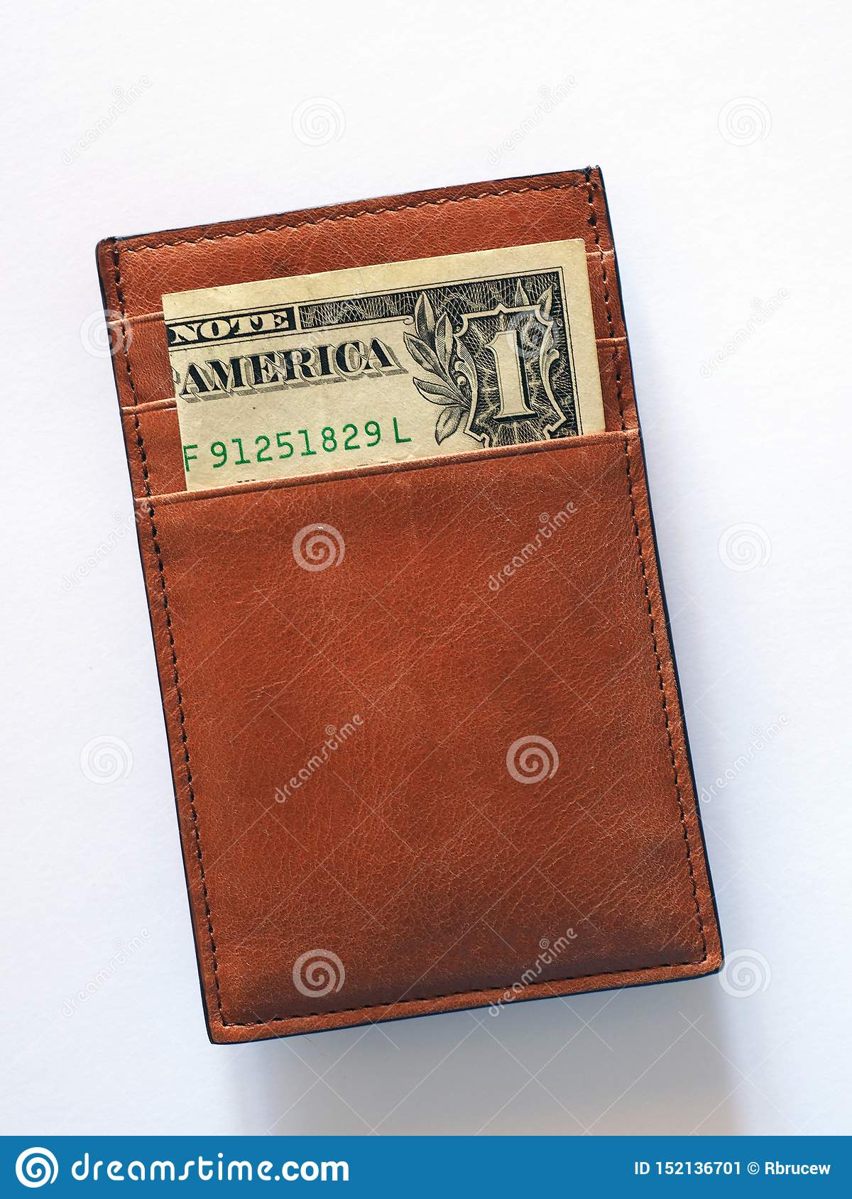 Only One Dollar Bill in Card Wallet