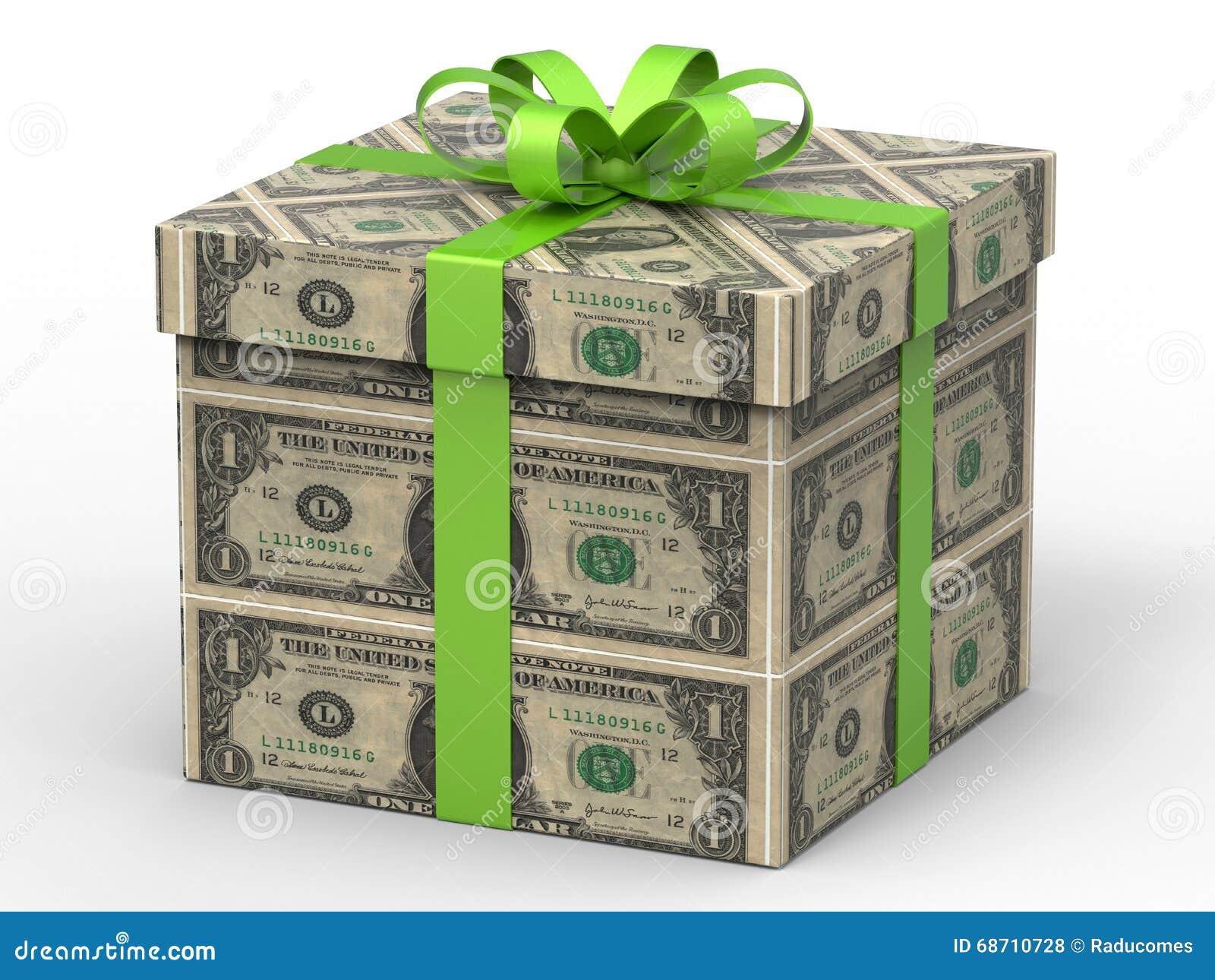 one dollar gift wrapping stock illustration illustration of hundred