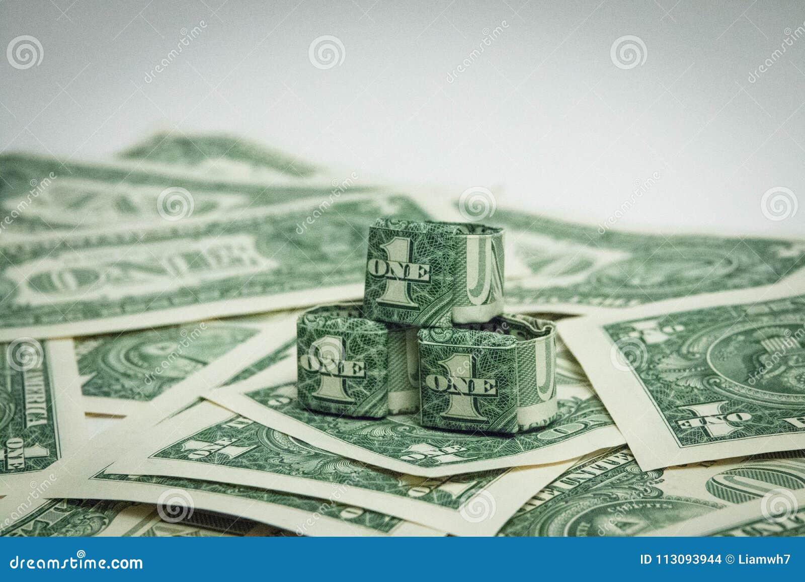Origami diamond money ring (moneygami) | PapercraftSquare.com | 957x1300
