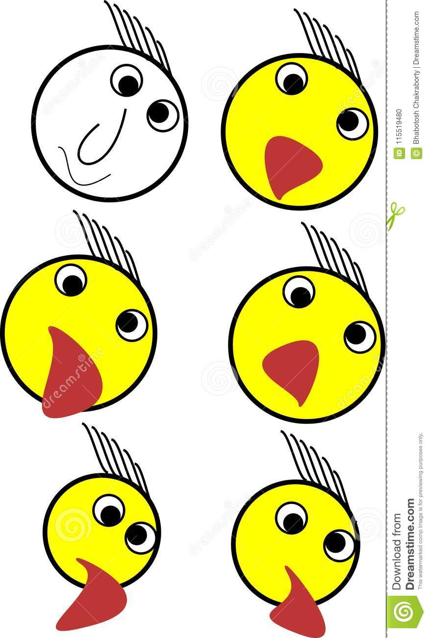 one emoji set illustration for apps stock vector illustration of