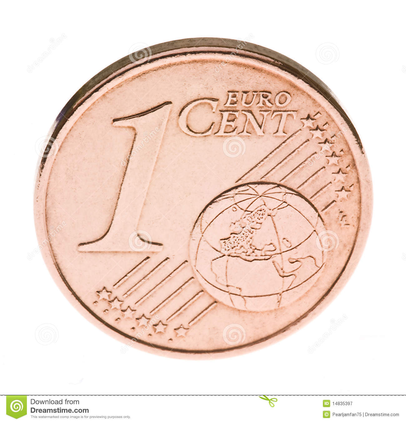 one euro cent coin stock image image of austria circle 14835397. Black Bedroom Furniture Sets. Home Design Ideas