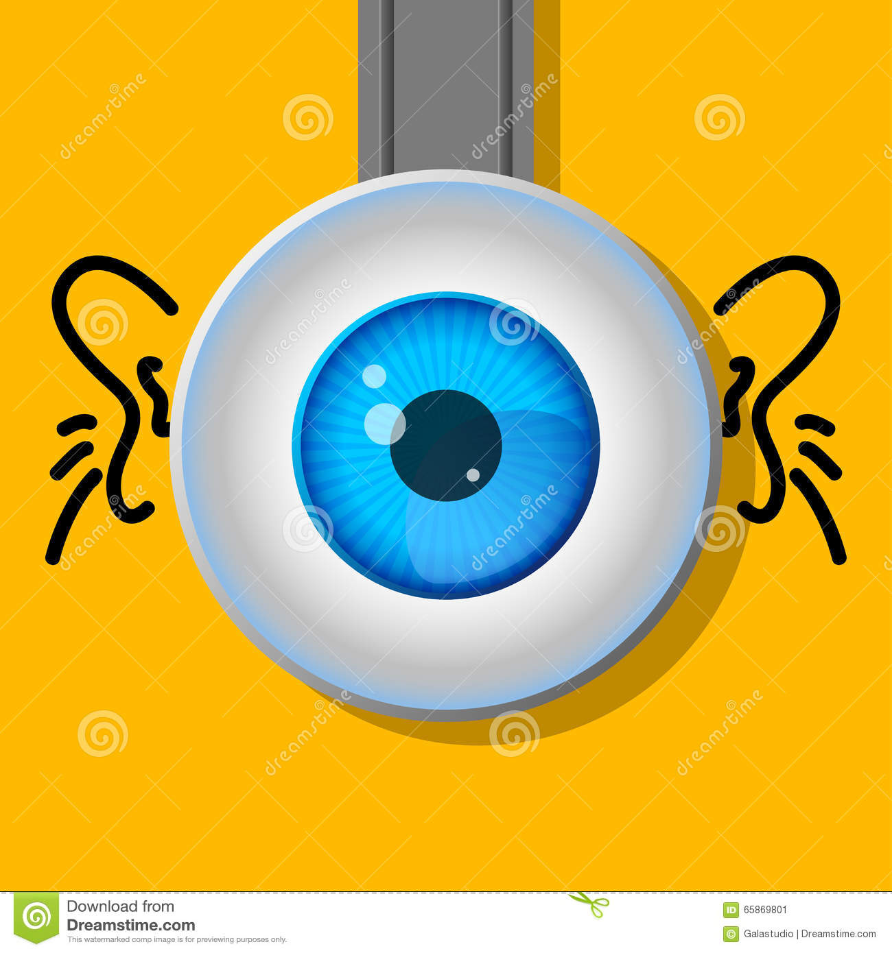 1 Eyed Cartoon Characters : One eye cartoon a typical character stock illustration