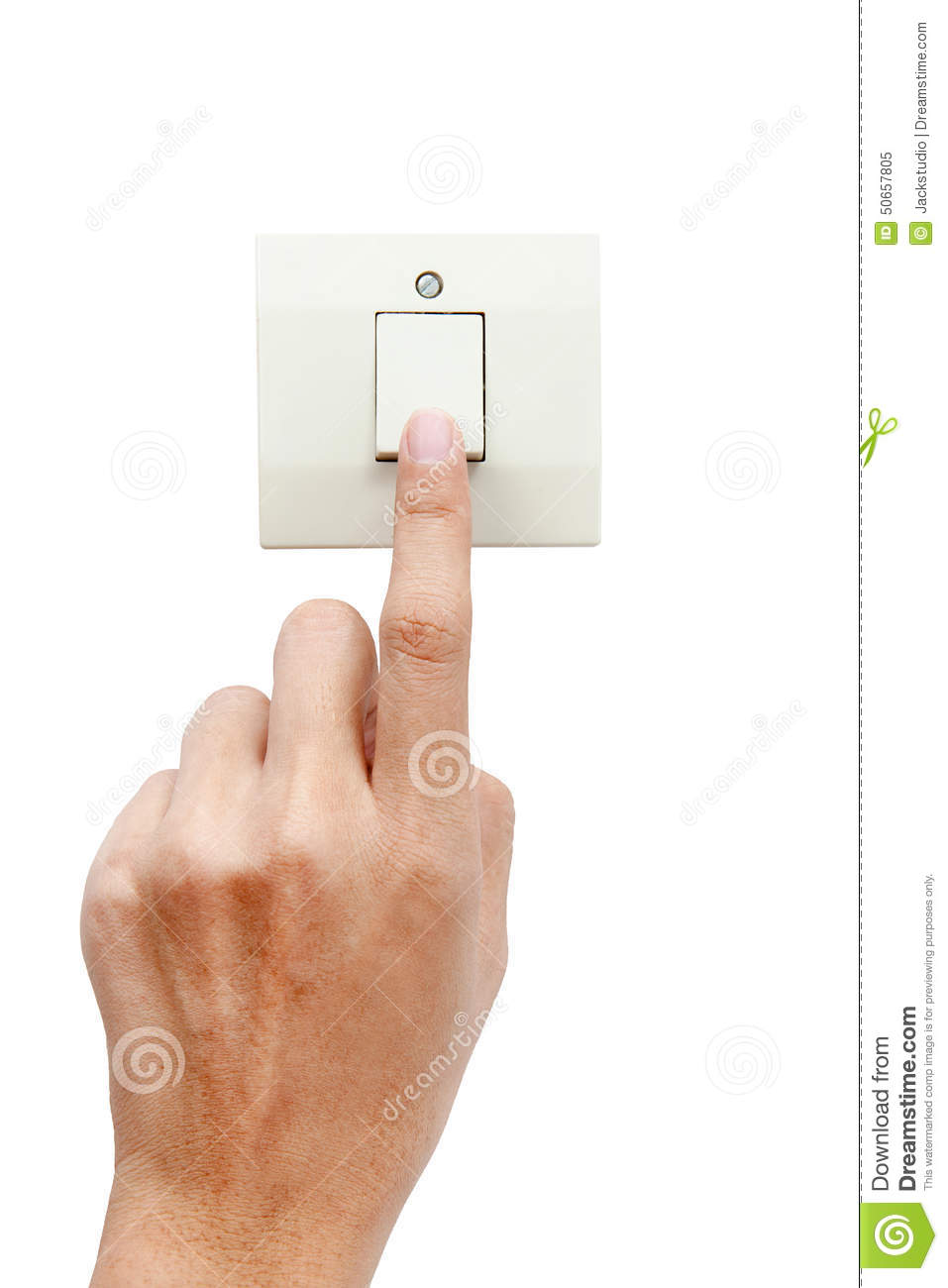 One Finger Switching Turned On Off, Press The Button Stock