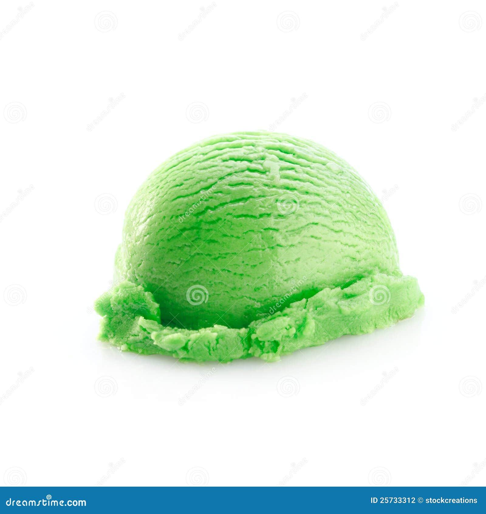 One green scoop of icecream