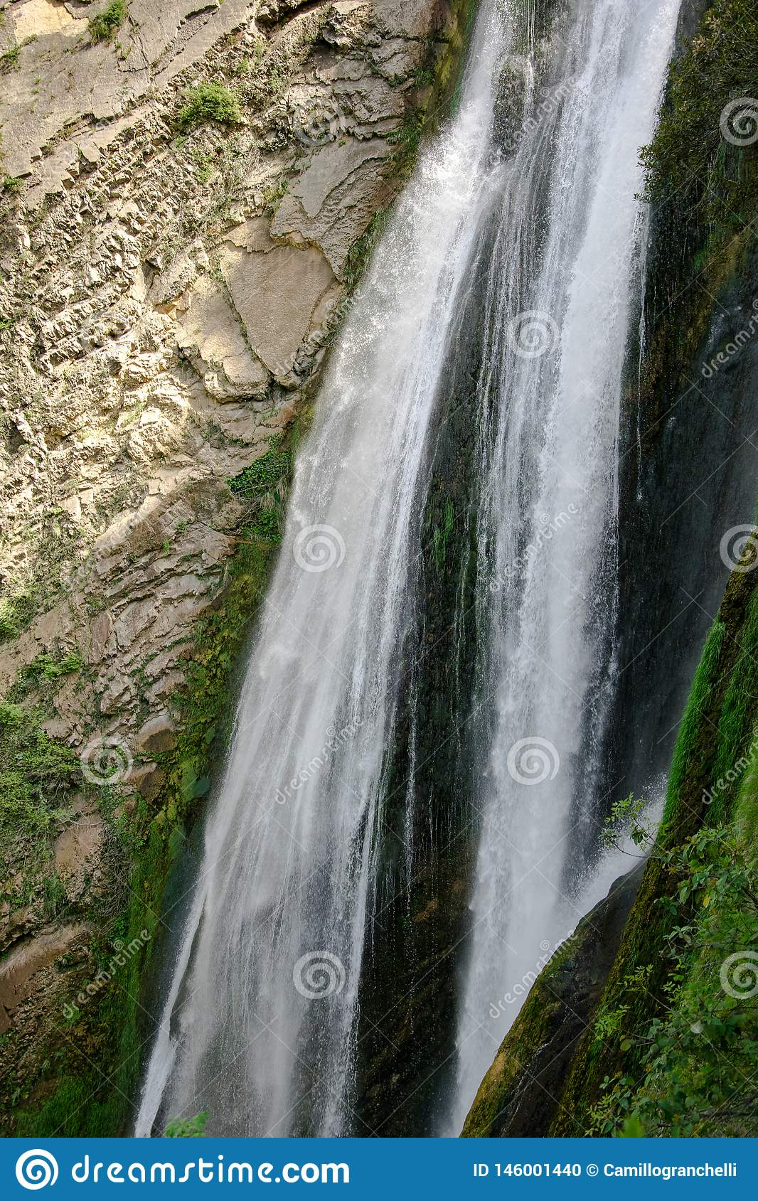 One of the highest waterfalls in Italy