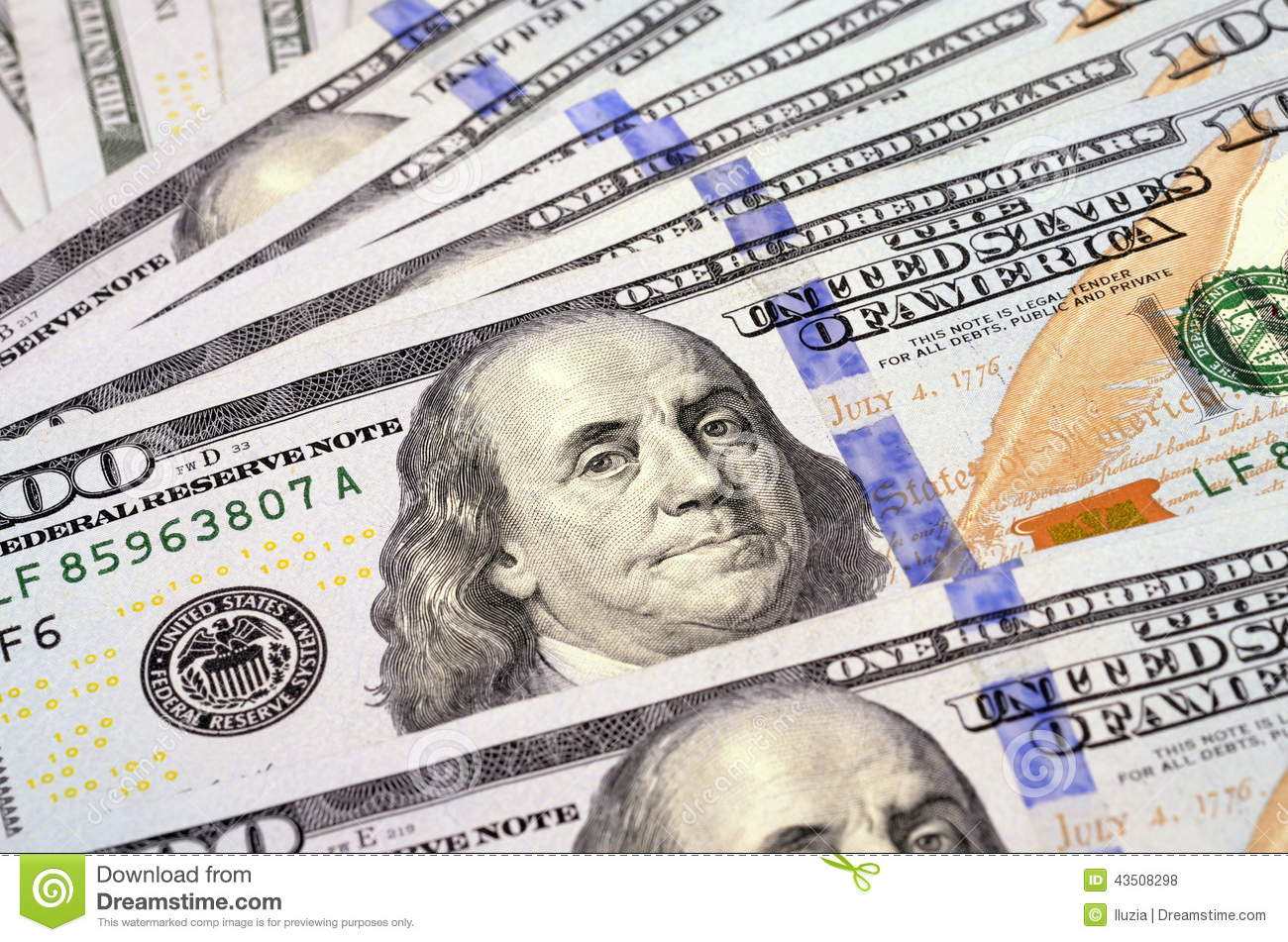 background of new 100 us dollars banknotes bills stock one hundred dollars stock photo image 43508298 997