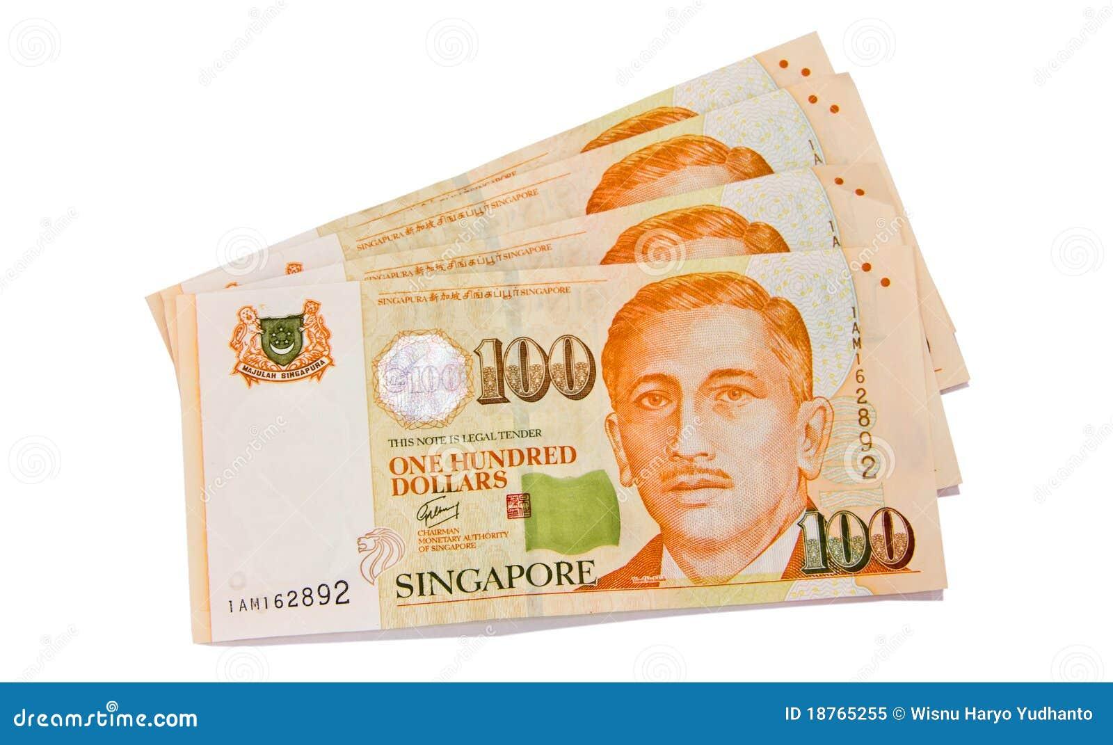 one hundred singapore dollars stock image image of cent