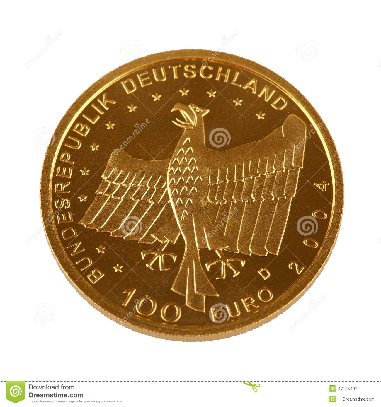 One hundret Euro gold coin