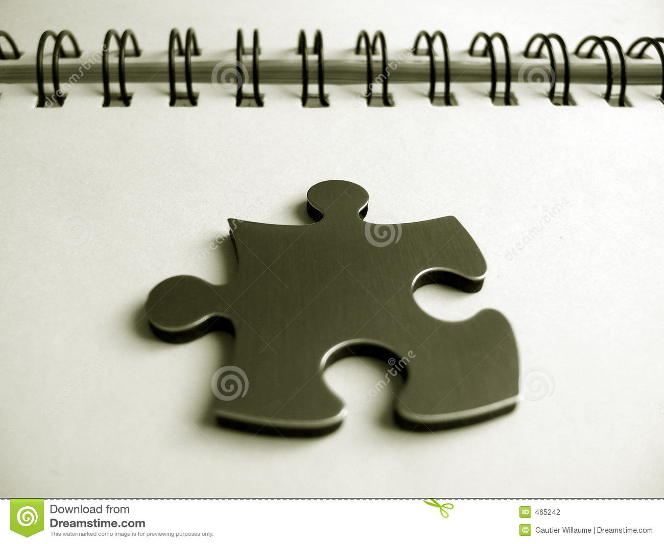 Download One jigsaw piece stock photo. Image of elements, golden - 465242