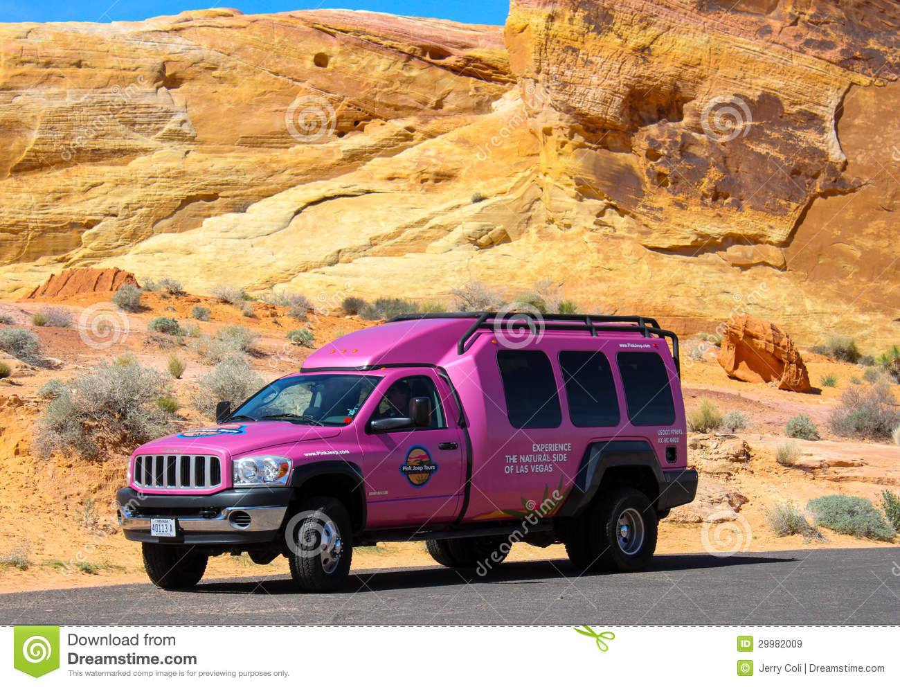 Famous Pink Jeep Truck Editorial Stock Image - Image: 29982009