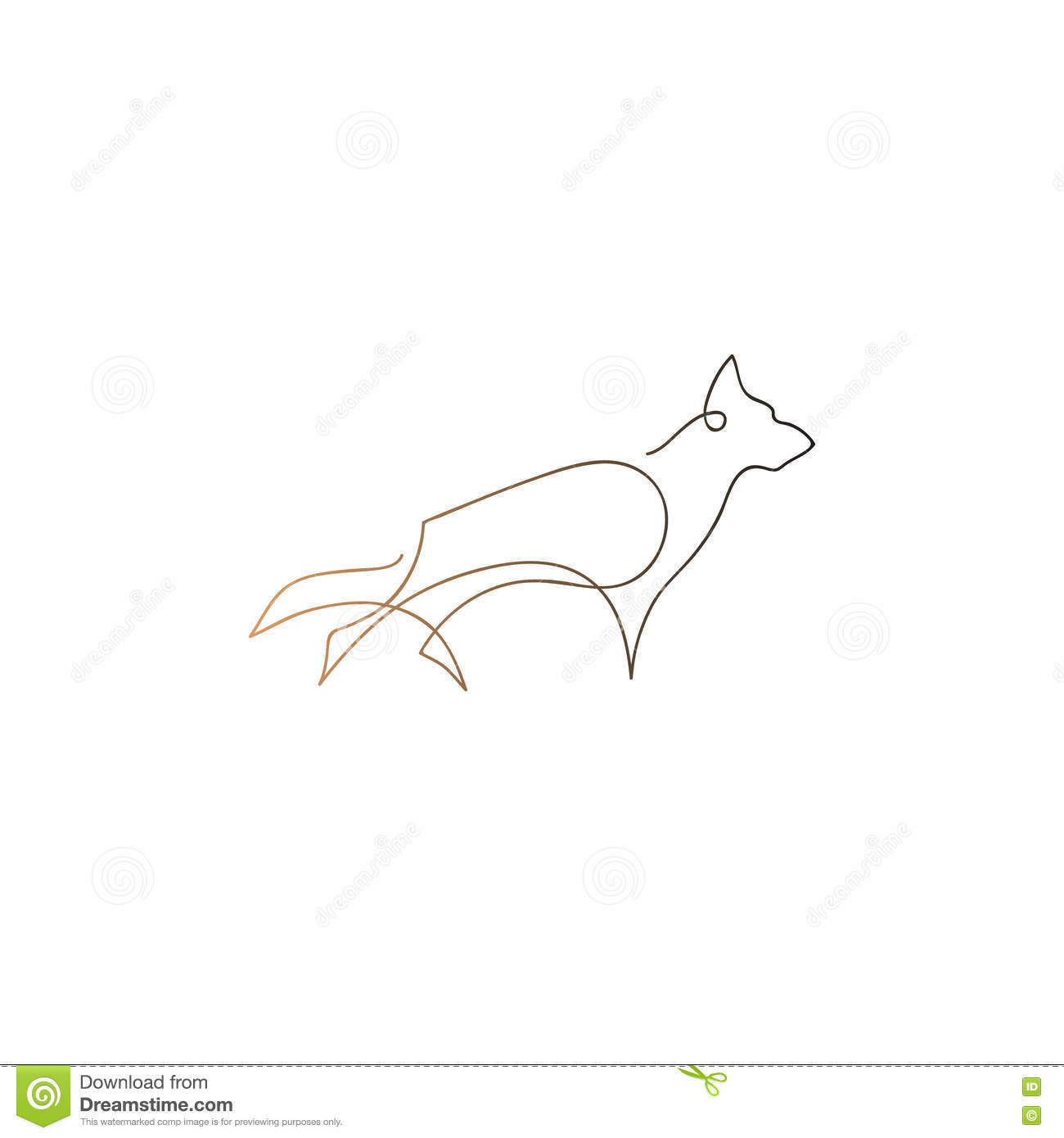 One Line Design : One line dog design silhouette german shepherd hand