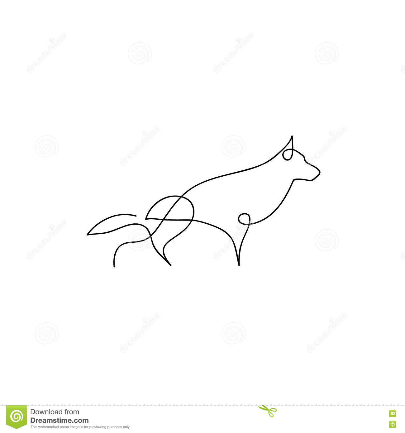 One Line Art Facepalm : One line dog design silhouette german shepherd hand