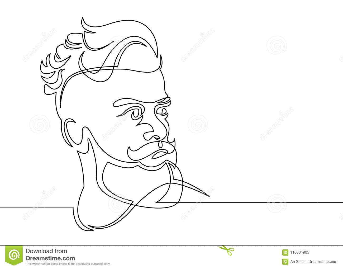One Line Draw Hipster Stock Vector Illustration Of Illustration