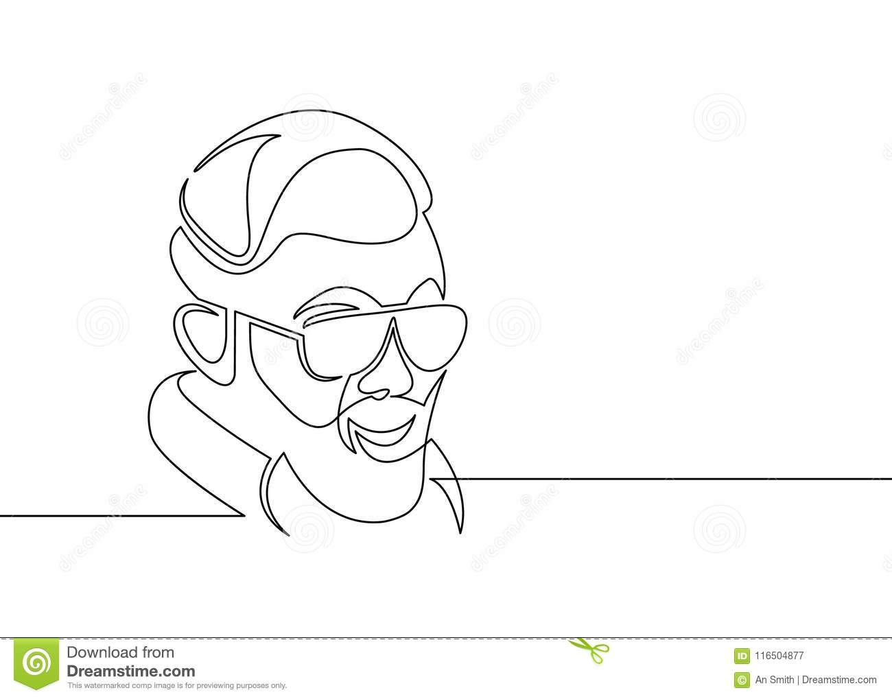 One Line Draw Hipster Stock Vector Illustration Of Glasses 116504877