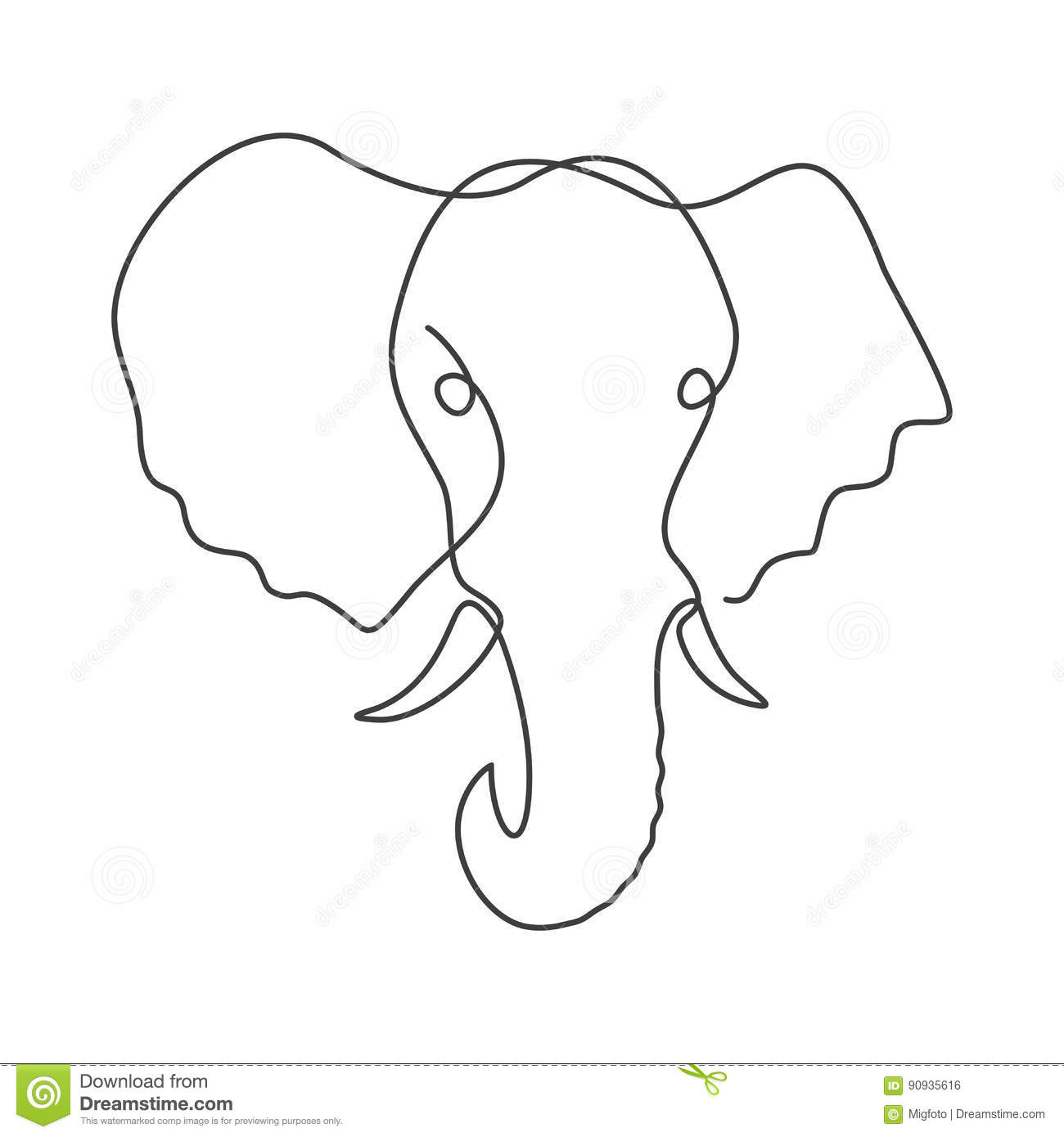 One Line Body Art : Line drawing elephant pixshark images