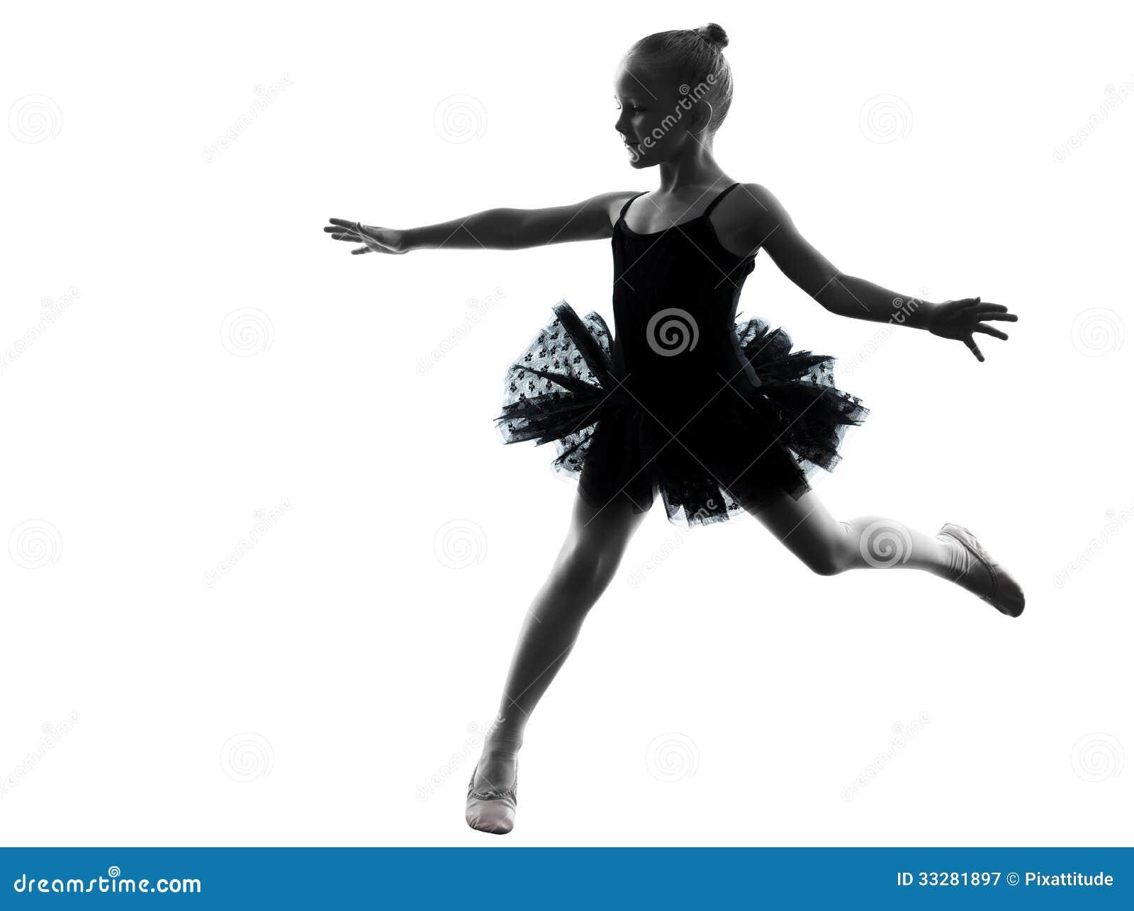 One Little Girl Ballerina Ballet Dancer Dancing Silhouette ...