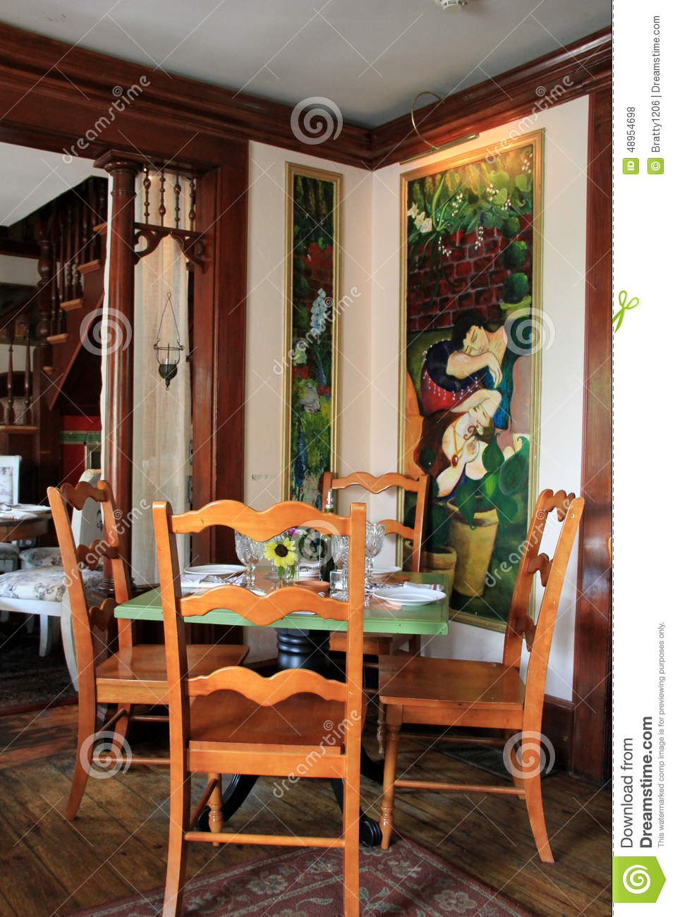 One Of The Many Dining Rooms Inside Famous Mouzon House Restaurant,Saratoga  Springs,New