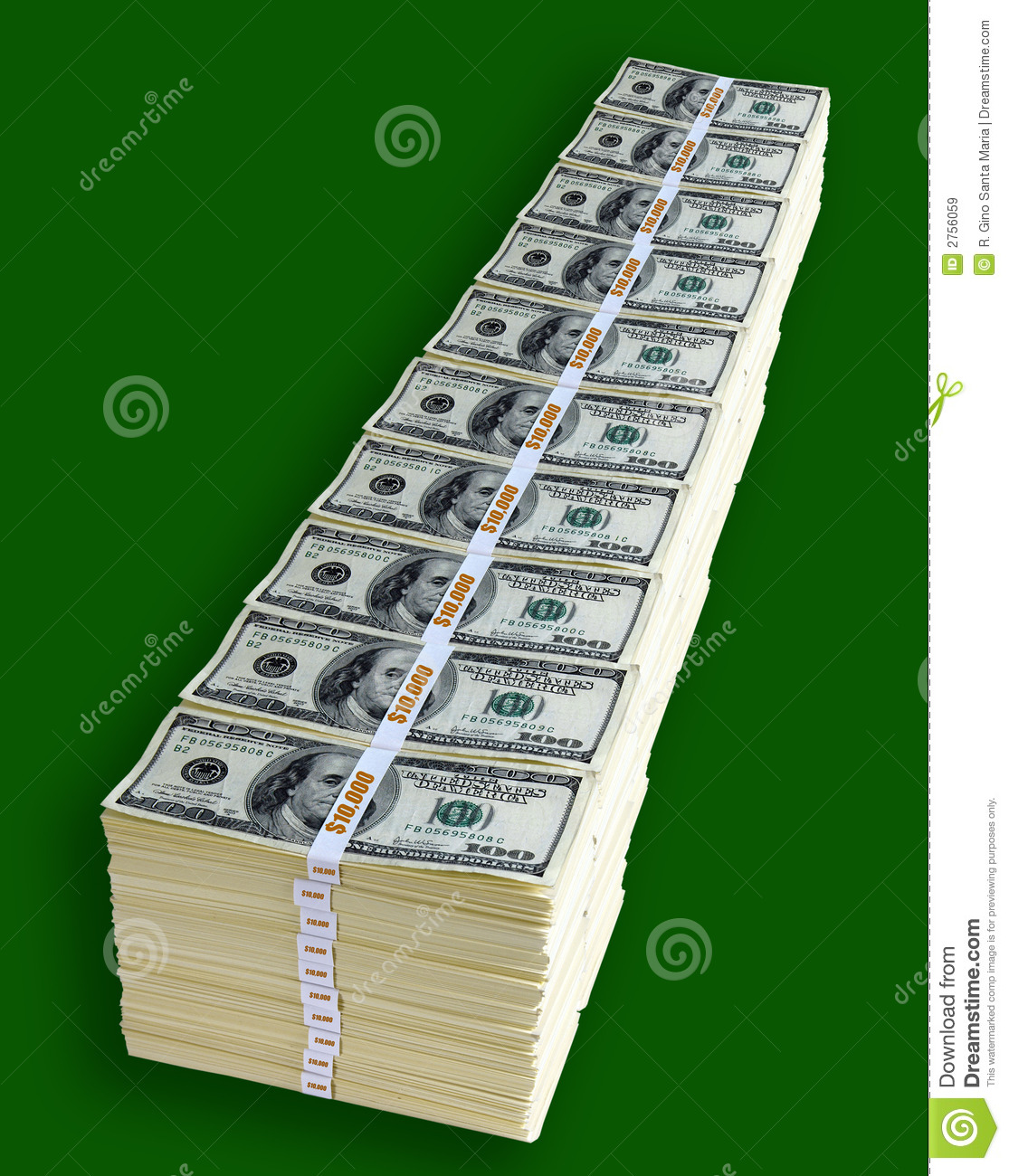 One Million Dollars Royalty Free Stock Images Image 2756059