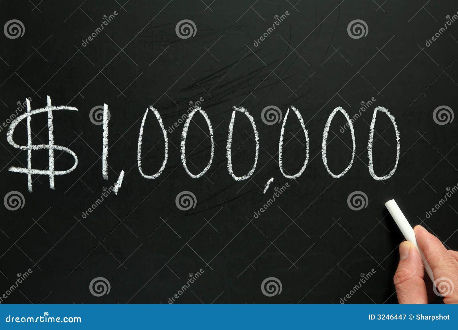 One million dollars.