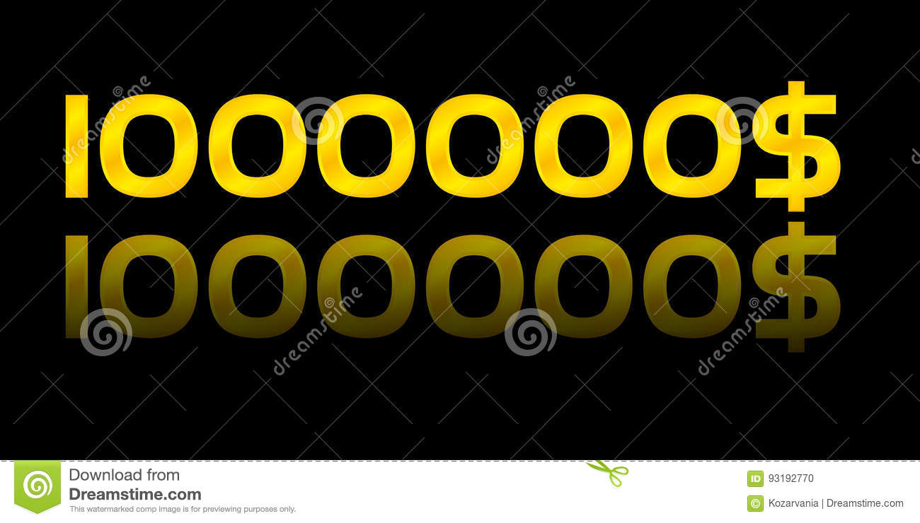 One Million Dollars Stock Vector Illustration Of Luminous 93192770