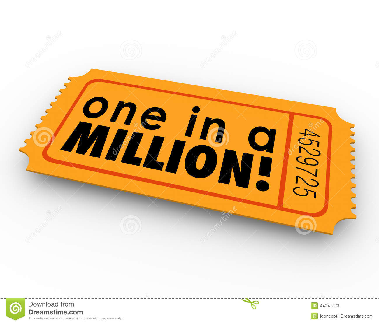 one in a million words raffle ticket winner game luck