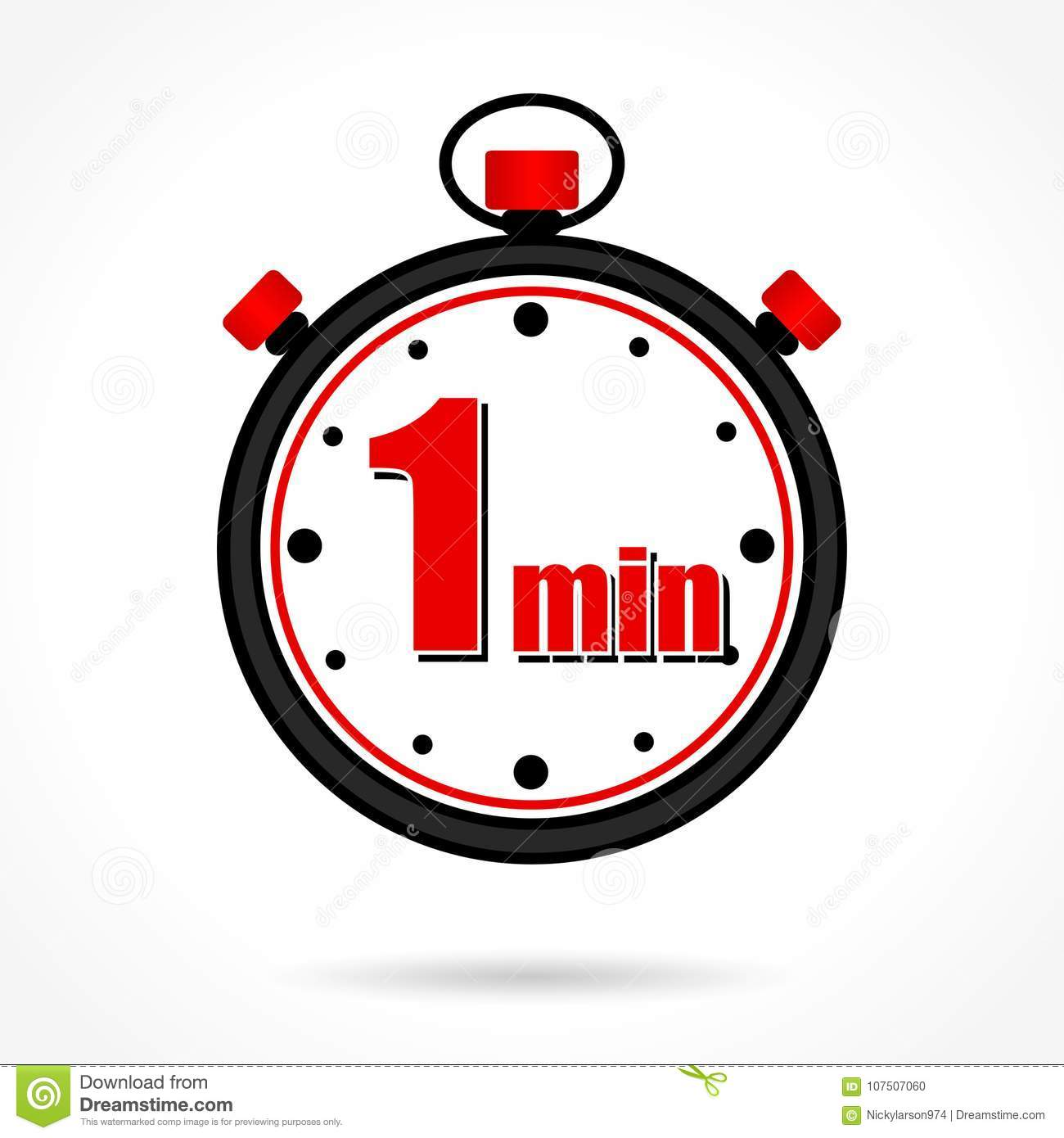 One minute stopwatch