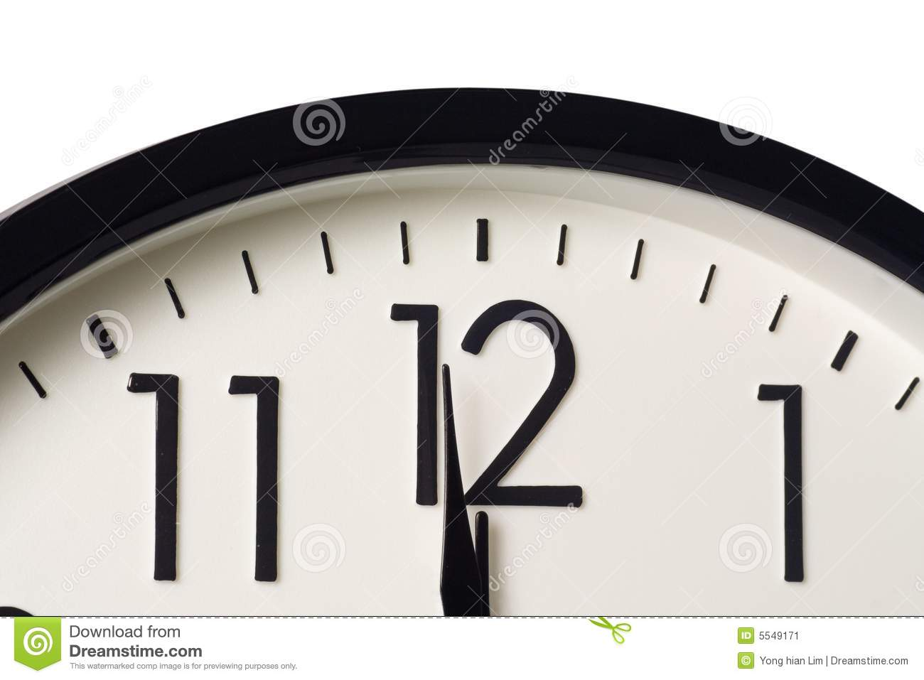 one minute to midnight stock image